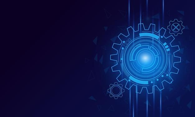 Tecnologia digitale e ingegneria, concetto di telecomunicazioni digitali, hi-tech, sfondo tecnologia futuristica, illustrazione vettoriale.