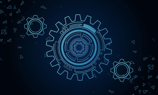 Tecnologia digitale e ingegneria concetto di telecomunicazioni digitali tecnologia futuristica hitech