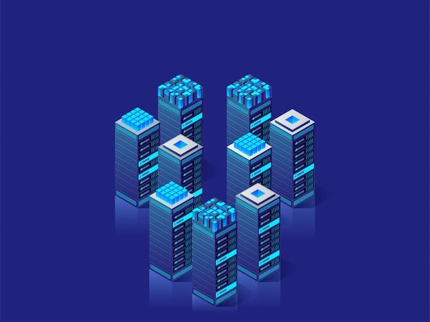 Tecnologia digitale. illustrazione isometrica