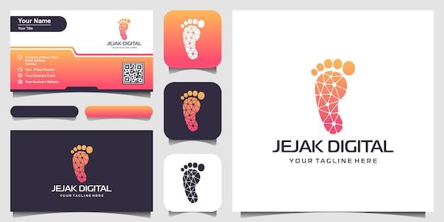 Emblema di tracciamento digitale società di ricerca e analisi protezione delle informazioni biometriche