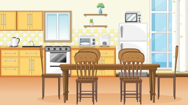 Interior design della sala da pranzo con mobili