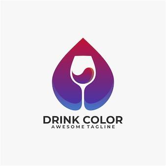 Dink colorato logo design vettoriale