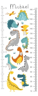 Tabella di altezza dino per bambini