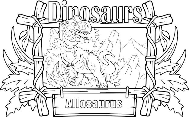 Dinosauro allosaurus