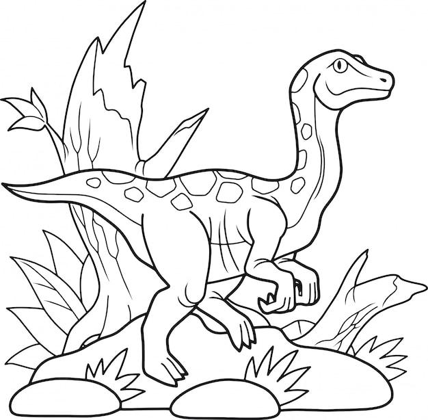 Libro da colorare di dinosauro