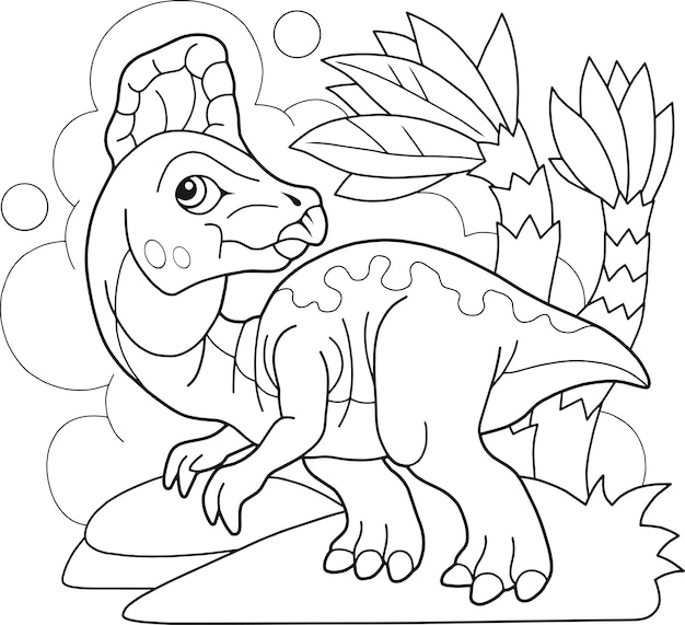Libro da colorare di dinosauri