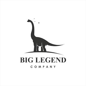 Disegno di dinosauro brachiosaurus arte vettoriale antico animale gigantesco elemento grafico