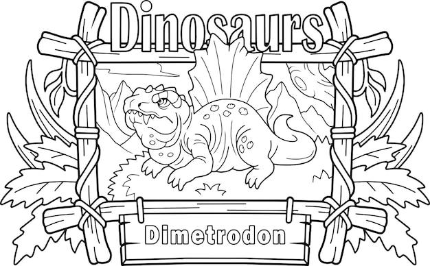 Dimetrodonte di dinosauro