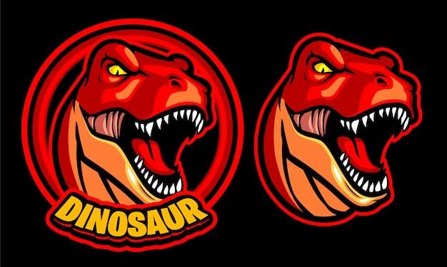 Modello logo illustrazione dinosauro