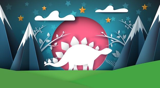 Illustrazione di dinosauro