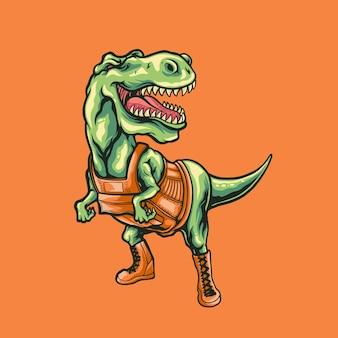 Illustrazione della mascotte del dinosauro