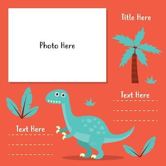 Serie di modelli di foto-libro dinosauro