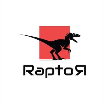 Dinosauro raptor antico animale preistorico vettoriale in piedi bestia rettile mostro illustrazione graph