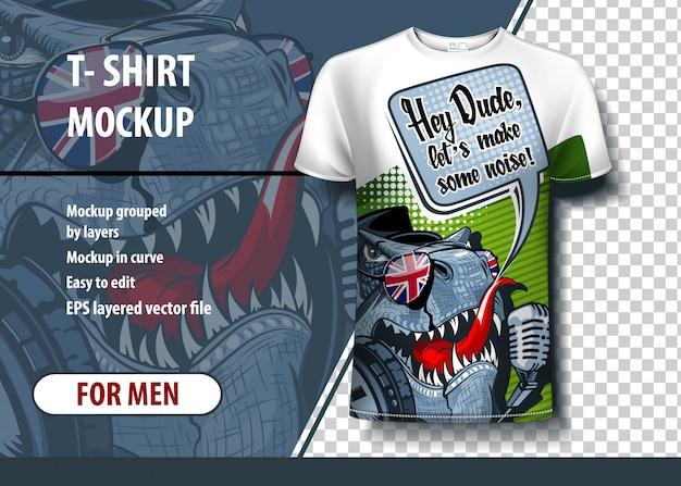 Design t-shirt dinosauro