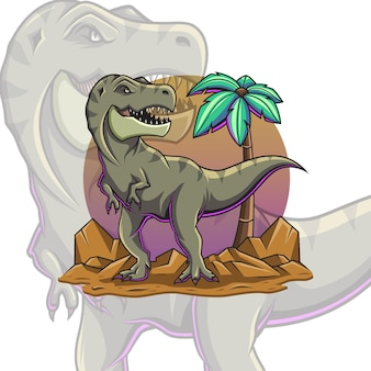Illustrazione vettoriale di dinosauro