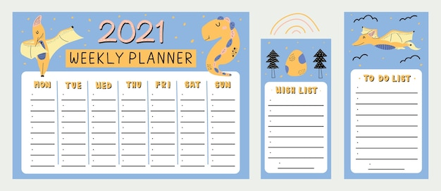 Agenda settimanale dinosauro