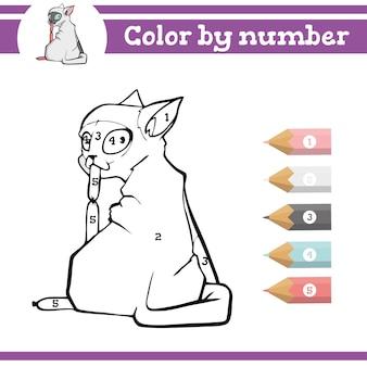 Dinosauri da colorare con i numeri pagina da colorare per bambini in età prescolare che imparano i numeri per gli asili