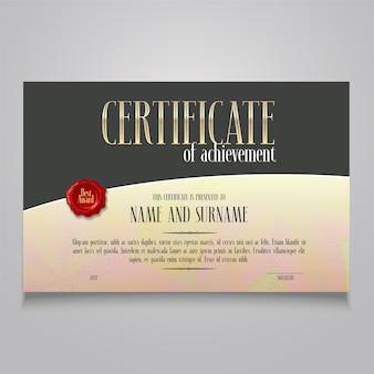 Diploma di successo, apprezzamento in bianco di vettore