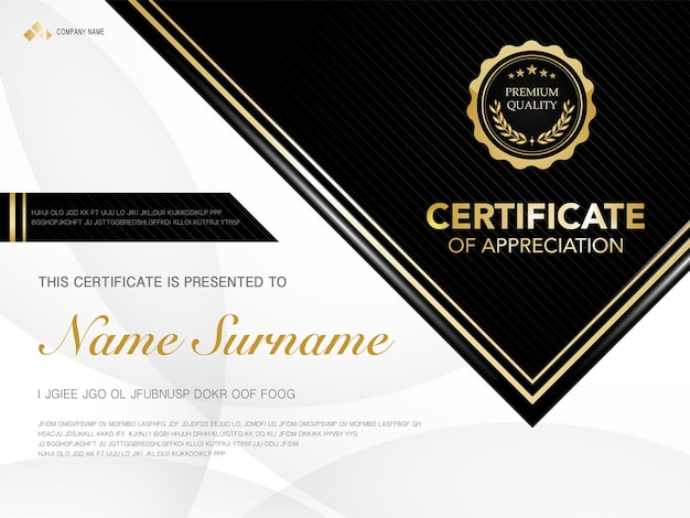 Modello di certificato di diploma di colore rosso e oro con immagine vettoriale di lusso e stile moderno, adatto per l'apprezzamento. illustrazione vettoriale.