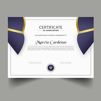 Diploma nuovo modello di certificato di design