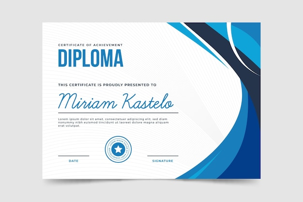 Modello di diploma