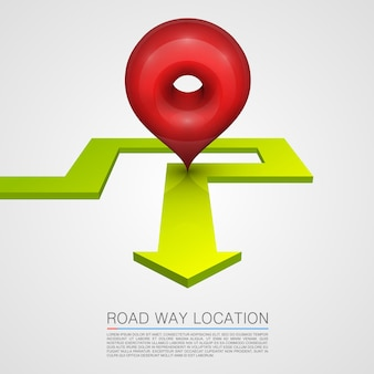 Direzione del percorso di navigazione della freccia. illustrazione vettoriale