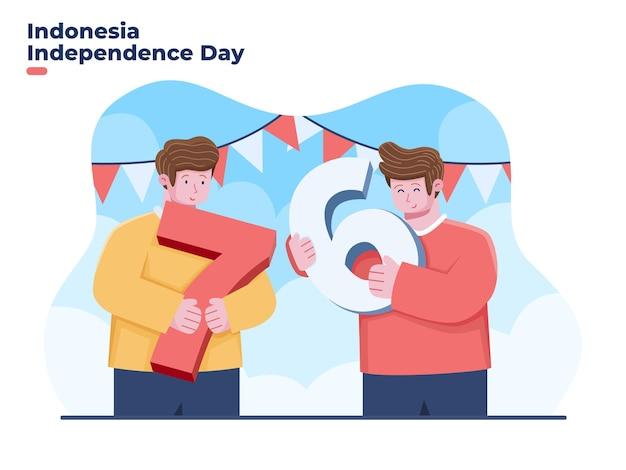 Dirgahayu kemerdekaan republik indonesia significa felice celebrazione del giorno dell'indipendenza indonesiana