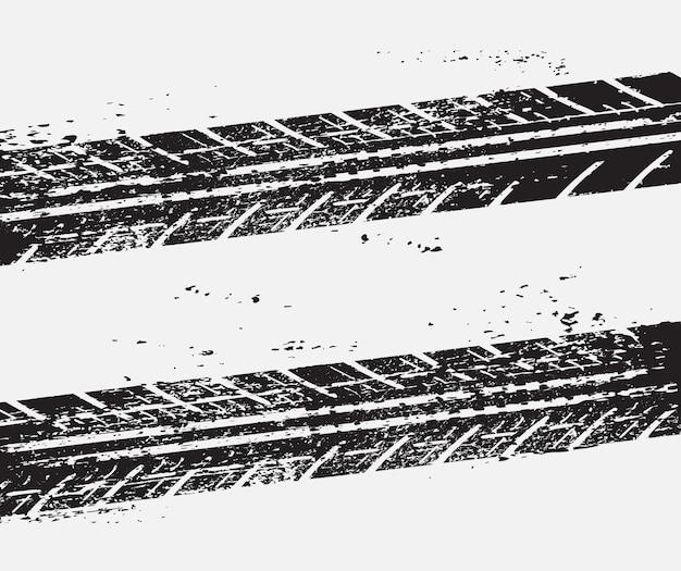 Sfondo di tracce di pneumatici sporchi