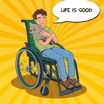 Persona disabile in sedia a rotelle