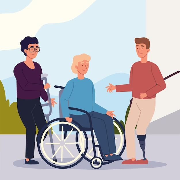 Personaggi di uomini disabili