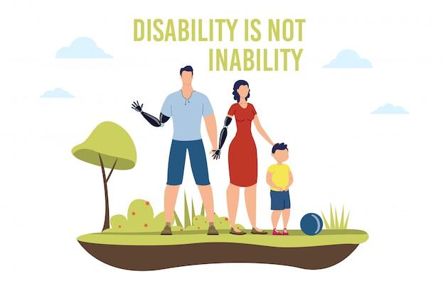 Persone disabili vita dignitosa piatta