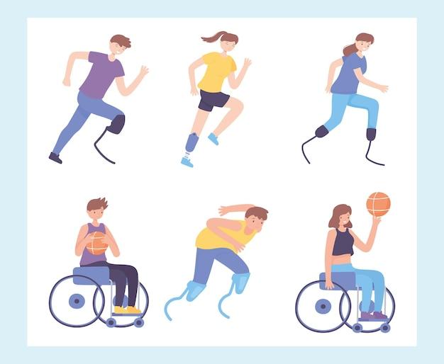Disabili che fanno esercizio
