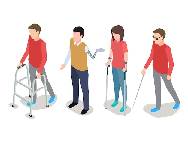 Set di persone disabili