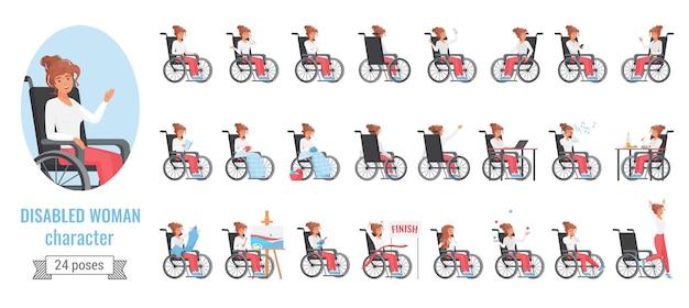 Donna disabile con problemi di salute della disabilità