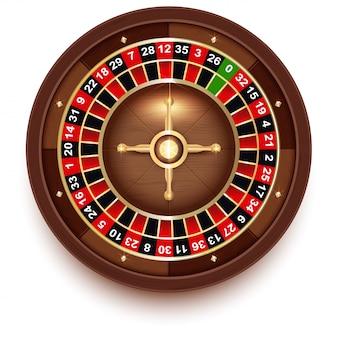 Disc roulette per giochi da casinò vista dall'alto