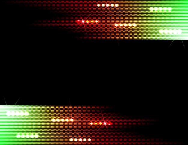 Discoteca astratte strisce colorate su sfondo nero