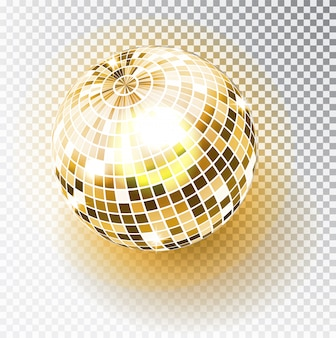 Illustrazione isolata palla della discoteca. elemento di luce da festa per night club.
