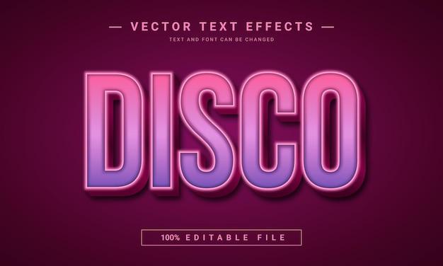 Design dell'effetto di testo modificabile da discoteca