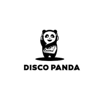 Design del logo del panda della discoteca