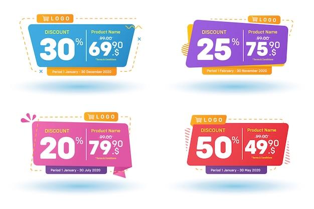 Set di vendita banner sconto