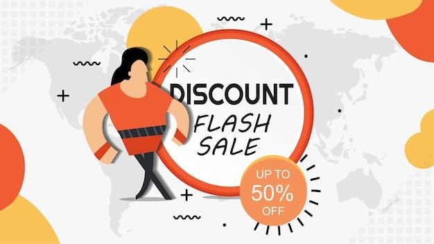 Sconto di vendita flash fino al 50% di sconto