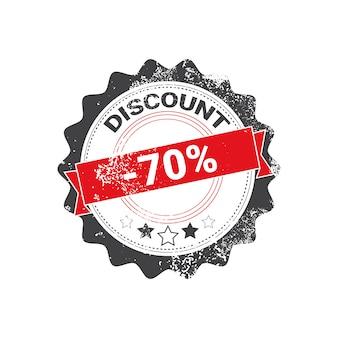 Distintivo commerciale di progettazione di vendita di lerciume del bollo di sconto isolato