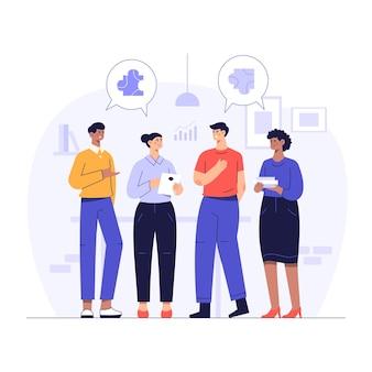 I gruppi di discussione con opinioni diverse sono divisi in 2 gruppi