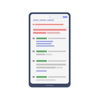 Visualizza la bacheca anonima sullo smartphone