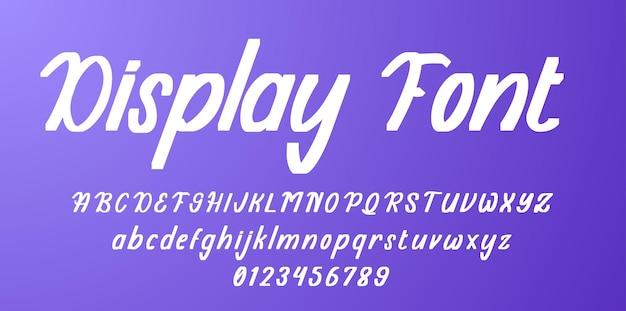 Visualizza l'alfabeto dei caratteri