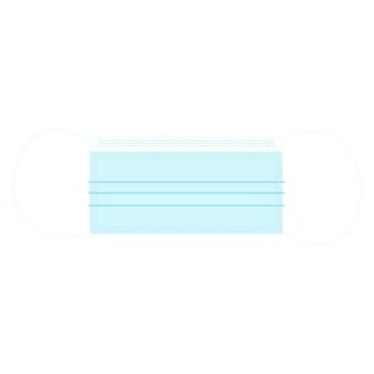Maschera medica blu monouso, concetto di medicina e protezione. illustrazione vettoriale