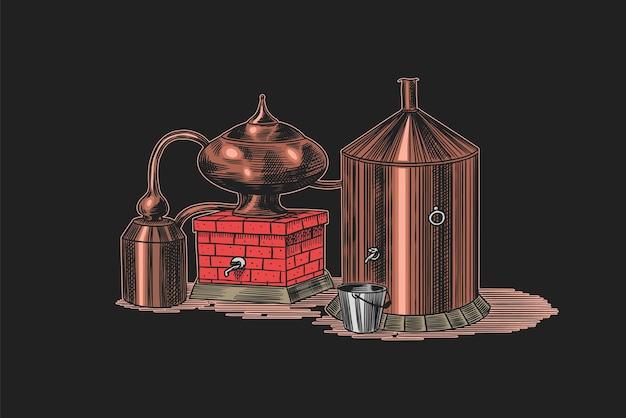 Alcool distillato. dispositivo per preparare tequila, cognac e liquori.