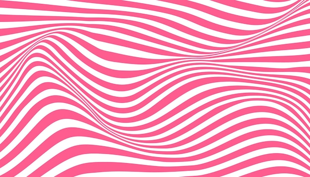 Sfondo di illusione ottica a strisce di inchiostro distorto