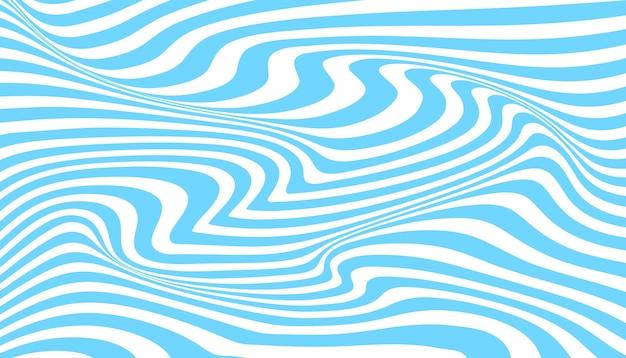 Sfondo di illusione ottica a strisce di inchiostro distorto Vettore Premium