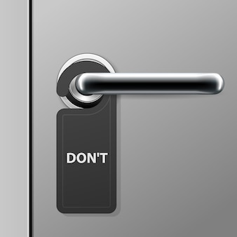 Non disturbare segno - gancio per porta dell'hotel sulla maniglia della porta - maniglia moderna della porta nel motel